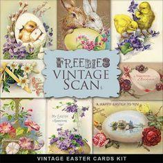 Freebies Vintage Easter Card
