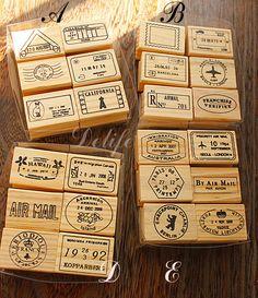 Selo carimbo postal do Vintage carimbado registro viagens aéreas 6 PCS por conjunto 4 design é opcional atacado grátis frete em Selos de Casa & jardim no AliExpress.com | Alibaba Group
