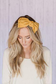 Missy Mustard Oversized Bow Hair Band   three bird nest @Jenn L Harris