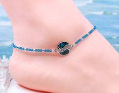 Boot Jewelry, Nice Jewelry, Jewelry Design, Silver Ankle Bracelet, Ankle Bracelets, Making Jewelry For Beginners, Jewelry Making, Bin Bin, Crystal Beads
