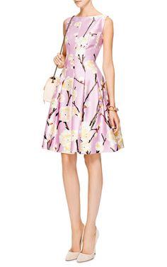 Floral-Print Silk-Blend Dress by Oscar de la Renta - Moda Operandi