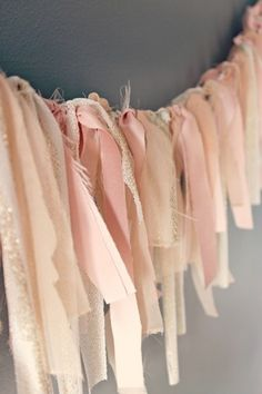 Pastel Crush - Easy Scrap Fabric garland. This could be really cute in my daughters room next to a string of white lights