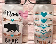 Diy Tumblers, Custom Tumblers, Silhouette Projects, Silhouette Cameo, Water Bottle Tracker, Gym Bottle, Hydration Bottle, Cute Water Bottles, Vinyl Monogram