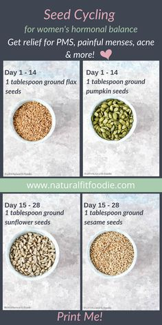 Healthy Living Tips Have you heard of seed cycling? Learn all about this delicious and easy way to bring your hormones back into balance naturally so that you can get relief from symptoms such as painful menses, acne, PMS and more. Health And Nutrition, Health And Wellness, Health Diet, Men Health, Nutrition Chart, Holistic Nutrition, Nutrition Tips, Nutrition Websites, Potato Nutrition