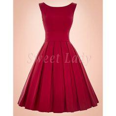 Červené retro šaty s Ačkovou sukňou