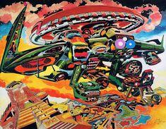 Cap'n's Comics Jack Kirby, Fantasy World, Trippy, Psychedelic, Spiderman, Superhero, Comics, Fictional Characters, Art