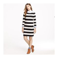 Jcrew Maritime Striped Dress Size: L. True to size. No stains/damages. Color: navy and off white J. Crew Dresses