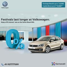 Own the powerful #Vento at 0% interest* and get benefits upto ₹20,000. T&C Apply.