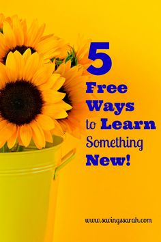 One of the best things about us humans is that we have the capacity to learn throughout our lives. Check out these 5 FREE Ways to Learn Something New!  Hurry and take advantage of them because they will not cost you a penny.