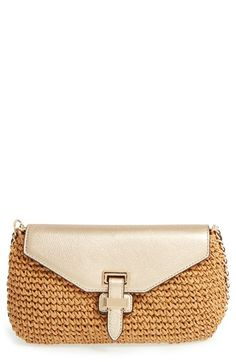 MICHAEL Michael Kors 'Large Naomi' Straw Clutch available at #Nordstrom