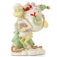 Seuss Grinch's Snowy Escape Figurine By Lenox Lenox Christmas, Christmas China, Merry Christmas To All, White Christmas, Dr Seuss Grinch, Dr Suess, Christmas Decorations, Christmas Ornaments, Holiday Decor