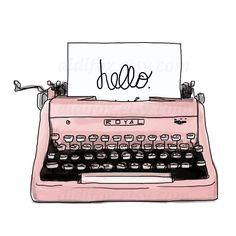 Pink Retro Typing Machine