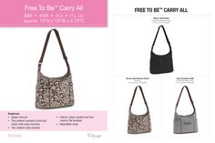 New! Free To Be Carry All Available Sept 1, 2013