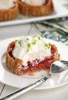 STRAWBERRY-LIME RHUBARB TART