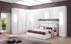 17 Modern Bed Cupboard To Use Space Behind The Bed - Decor Units Blue Master Bedroom, Master Bedroom Interior, Luxury Bedroom Design, Bedroom Closet Design, Room Ideas Bedroom, Interior Design Living Room, Baby Room Decor, Bedroom Decor, Fitted Bedroom Furniture