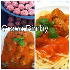 Bimby Truques & Dicas: Almôndegas com molho de tomate e manjericão XXL