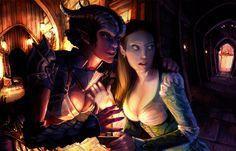 Tiefling and Elf Code Words by lorraine-schleter.deviantart.com on @DeviantArt