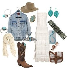 cowgirl Love this look Country Girl Style, Country Fashion, Country Outfits, Country Girls, Country Life, Country Dresses, Country Chic, Cowgirl Outfits, Western Outfits