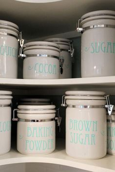 $2.00  Custom Canister Labels - Vinyl Decal Stickers - LOVE these!
