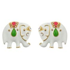 fornash elephant earrings.  I love these!  I also have them in hot pink.