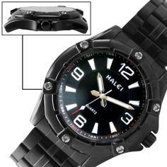 FW873B New Black Dial Black Band Round Black Watchcase Mens Watch