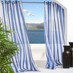Escape Stripe Grommet-Top Outdoor Curtain Panel  found at @JCPenney
