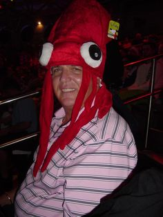 My fishing instructor and friend during squid day......lol