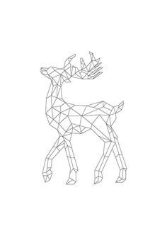 Scandinavian poster - Deer origami n & b - Interior decoration - Illustration v . Geometric Drawing, Geometric Art, Scandinavian Poster, Arte Linear, Pretty Wallpapers, Vintage Wallpapers, Desktop Wallpapers, Fall Wallpaper, Geometric Designs