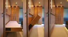 Interior of Tatiana yacht - designed by J Kinder and realised by Septemar Yacht Furniture