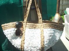 Large Plarn Beach Tote by TheGreenKitty on Etsy, $50.00