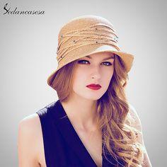 Mujeres Summer Sun de la Paja Sombrero Rollo Brim Diseño de moda Con La  Decoración Del b618c9b95b7