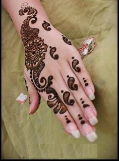 Mehndi Designs Simple And Easy for Hands Arabic to draw for kids ...