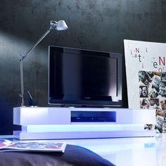 Marvelous Step High Gloss Plasma Tv Cabinet With Multi Led Lights