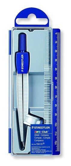 Staedtler Noris Club Compass Set 550-55 Drafting Drawing Professional School