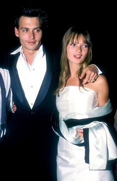 The Ladies of Johnny Depp's Love Life - Kate Moss Kate Moss, Johnny Depp Girlfriend, La Reverie, Jonny Deep, Young Johnny Depp, Hollywood Scenes, Heroin Chic, Cinema, Celebs