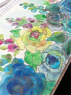 watercolor art journal