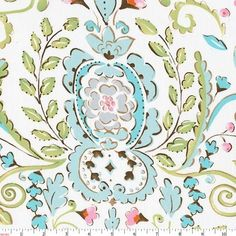 Love Bird Damask Fabric by the Yard | Pink Fabric | Carousel Designs