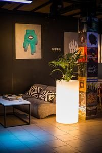 XXL LED glowing glower pots