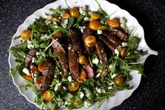 skirt steak salad marinade: 2 T. olive oil 2 T. balsamic vinegar 2 T. Worcestershire sauce 1 T. Dijon mustard 1 T. minced garlic