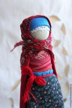 Купить Кукла народная на удачное замужество Красна девица - синий, васильковый, красный, невеста