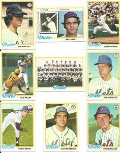 1978 vintage Topps METS 27 cards complete team set lot HOF Torre Koosman Matlack #NewYorkMets