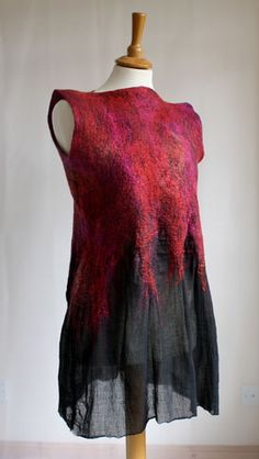 Nuno felt tunic by Monika Lamackova