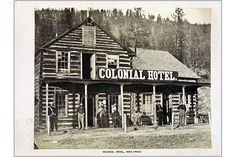 The Colonial Hotel,Soda Creek, Fraser River, 1868 Vancouver, Art Quiz, Fraser River, History Of Photography, First Art, Photo Series, Old West, Native American Art, Ghost Towns