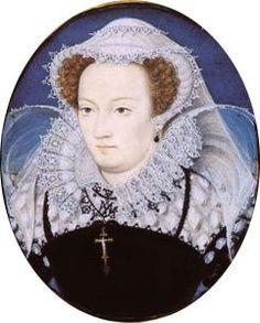 A EXECUÇÃO DE MARY STEWART: Retrato em miniatura de Mary Stuart, por Nicholas Hilliard (1578).