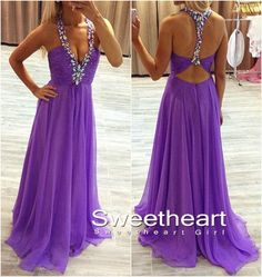 Purple+A-line+Chiffon+Long+Prom+Dress,+Formal+Dress Processing+time:+15-18+business+days Shipping+Time:+7-10+business+days Material:+Chiffon Shown+Color:+Refer+to+image Hemline:+Floor-Length Back+Details:+Zipper-up Built-In+Bra:+Yes For+Custom+Size,+Please+leave+following+measureme...