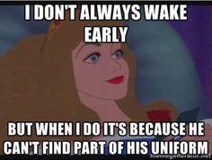 haha! So true as a police wife!