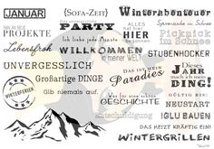 Monatsstempel - Anne´s Stempel Design - Wortstempel für Scrapbooking, Kartenbastler, Fotoalben - Anne581