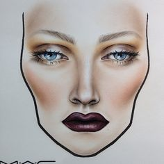 Face Chart! Love it!