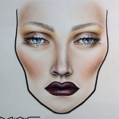 Face Chart! Love it!