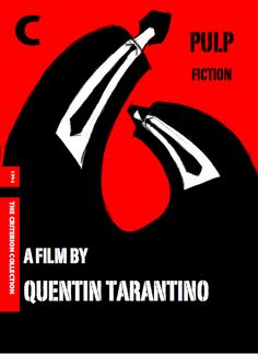 Pulp Fiction, directed by Quentin Tarantino / speculative Criterion cover.